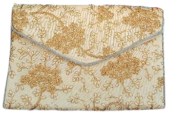 This Stunning Sling Bag Is Made From Raw Silk With The Embellishment Of Embroidery, Sequin, Beads And Pearls Etc.