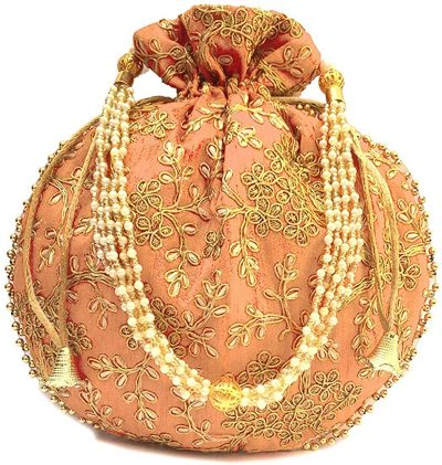 Rajasthani Potli Bag is meant for storing precious jewelry. It is also used as a handbag.